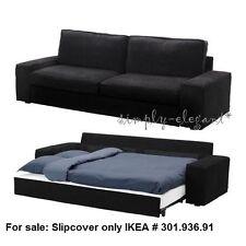 IKEA Kivik Sofa Bed SLIPCOVER Sofabed Cover TRANAS BLACK Tranås Corduroy NEW