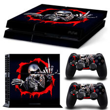 Skeleton Design PS4 Protective Skin Sticker Set Console and 2 Controllers - #97