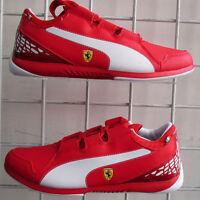 Boy's Puma Ferrari Valoroso Sneakers, New Red White Sport Life Walking Shoes 7