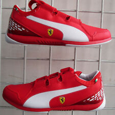 Boy's Puma Ferrari Valoroso Sneakers, New Red White Sport Life Walking Shoes 6.5
