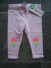 Baby Girl's Sprout Pink Ice Cream Leggings Size 00