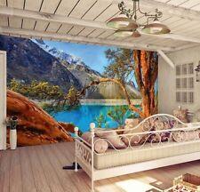 Fototapete Wandtapete + Gratis Selbstklebend 366x254cm Paron Lagune Peru Blau