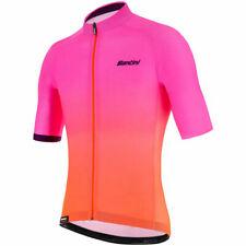 Santini Karma Luce Men's Short Sleeve Cycling Jersey in Orange/Pink