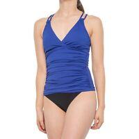 La Blanca 259249 Women's Strappy-Back Underwire Tankini Top Swimwear Size 6