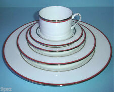 Kate Spade LIBRARY LANE White & Coral 20 Piece Dinnerware Service for 4 USA New