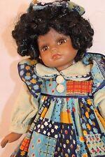 "Crowne 16""  African-American Doll  ""Larrisa""  Porcelain/Cloth   1998 Artmark"