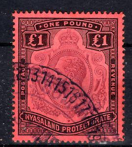 Nyasaland Prot.£1 pound  Cat £170 KGV SG98 1913-21 [N907-1]