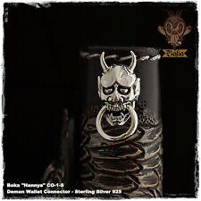 Boka Hannya Japan Demon Biker Wallet Chain Connector Concho Sterling Silver 925