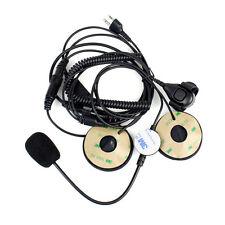 Motorcycle Helmet Headset Microphone Earpiece for Midland Radio with Finger PTT