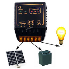 Solar Regulator Battery Charger Controller 12V/24V 20A Auto for Solar Panel Kit
