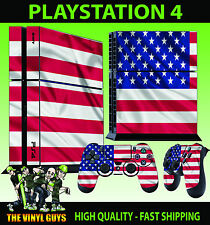 PS4 Skin American Flag USA Stars and Stripes Sticker + Pad decal Vinyl STOOD