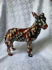 Vintage Democratic Donkey By LaVie *Patriotic Flag* Nice Condition