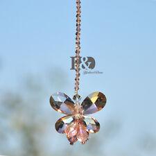 Window Hanging Rainbow Sun Catcher Pink Butterfly Crystal Pendulum Prisms Mobile
