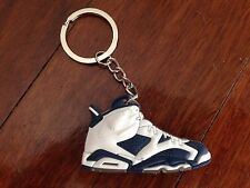 AIR JORDAN VI 6 AJ6 SNEAKER SHOE KEY RING KEY CHAIN OG OLYMPIC BLUE KOBE KD