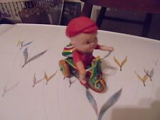 VINTAGE WIND UP TIN TOY TRI-CYCLE MADE IN CHINA