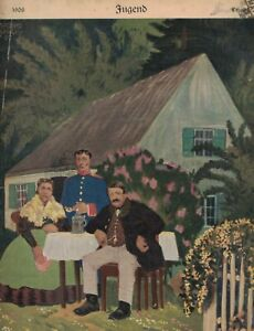 1908 Jugend June 13 Original German Art - Lurtzing; Salzmann color nude; Arnold