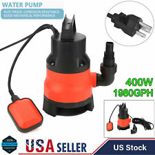 400W 1 HP Electric Submersible Water Pump Swimming Pool Dirty Flood Sump Pump US