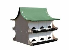Purple Martin 12 Family Bird House Birdhouse White Weather And Uv Resistant New