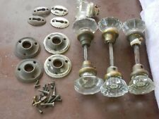Vintage Glass (crystal) door knobs with some hardware