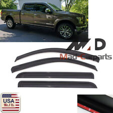 Smoke Window Visor For 2017-2018 Ford F-250 F-350 Super Duty SuperCrew Crew Cab