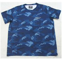 American Eagle Blue Camouflage Crewneck Short Sleeve Tee T-Shirt Top XL X-Large