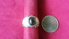 Beautiful Grey Smokey Oval Gems Vintage Ring Sterling Silver *Size 7 *G254
