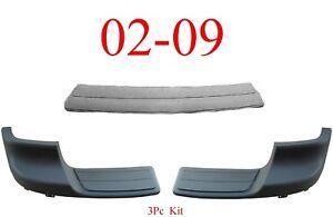 02 09 Chevy Trailblazer 3Pc Rear Center Pad & Step Kit