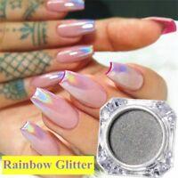 Nail Art Holographic Laser Powder Chrome Rainbow Dust Manicure Art Decoration