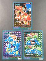 Pokemon Card Japanese Charizard Blastoise Venusaur Carddass Sealdass BANDAI EVO