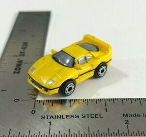 Micro Machines 1993 Galoob LGTI '87 Ferrari F40 Yellow w/ Silver Headlights