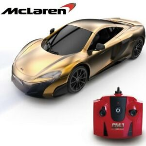 Official Replica Gold McLaren 675LT Coupe - Remote Control Car 1:24 Scale Toy