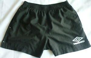"""Mens Shorts Large Black Umbro England Retro Shorts Training Football Shorts 36"""""""