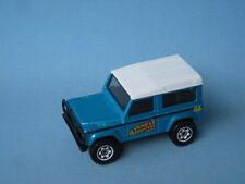 Matchbox Land Rover 90 Defender Jungle Off Road Met Blue Toy Model Car