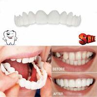 2pcs/set Bottom Upper Lower False Teeth Dental Veneers Dentures Fake Tooth Smile