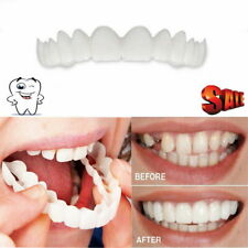 2pcs/set Bottom Upper Lower False Teeth Dental Veneers Dentures Fake Tooth Smile