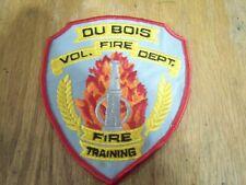 DU BOIS VOL. FIRE DEPT FIRE TRAINING PATCH