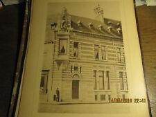 Planche Morgue, dépôt mortuaire et poste de police Bruxelles-Quai Barques 1898