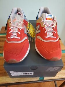 New Balance 997H Size 10 US Men's Energy Red Atomic Yellow Style CM997HJP S