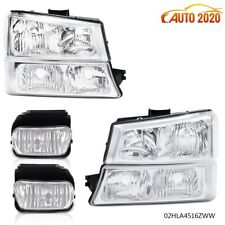 Clear Corner Headlightsfog Lights Fit For 03 07 Chevy Silveradoavalanche A Fits More Than One Vehicle