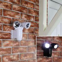 22cm Battery Power Motion Sensor LED Security Wall Lamp | Outdoor Garden PIR