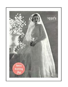 Vintage 1960s Double Knit Wedding Dress