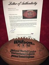 JOHN MADDEN JOHN ROBINSON NFL LEGENDS DUAL SIGNED OFFICIAL WILSON FOOTBALL PSA