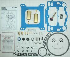 NO STICK BLUE EDELBROCK CARB REBUILD KIT STEEL PUMP ASSEM FLOATS 1403 1405 1406&