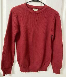 Cherokee, Boys Long Sleeve Solid Dark Red Medium Knit Sweater, Large 14