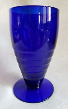 Vintage Paden City Cobalt Blue Penny Line 9oz Glass Tumbler