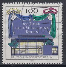 Berlin Germany 1990 Θ Mi.866 Theater Freie Volksbühne Vorhang [blg030]