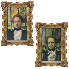 Halloween Gothic Portrait Rotting Zombie Woman Lenticular Wall Party Decoration