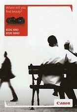 Prospekt 2010 GB Canon EOS 500D 1000D Broschüre Kamera brochure camera Japan