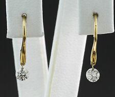 Ohrhänger 2 Brillanten 0,30 ct außergewöhnliches Design 750-Gelbgold Wert 1400 €
