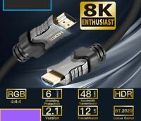 8K 48Gbps 2.1 HDMI Cables 4K eARC Cabo UHD Dynamic HDR For QLED OLED TV